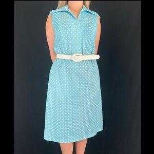 Late 50s/Early 60s Alison Ayres Polka Dot Dress